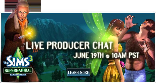 De Sims 3 Bovennatuurlijk chat