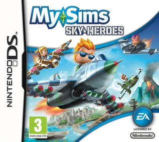 MySims SkyHeroes DS box art packshot