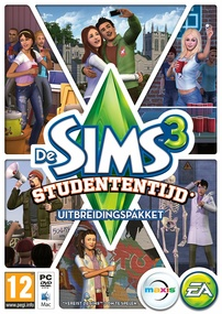 De Sims 3: Studententijd box art packshot