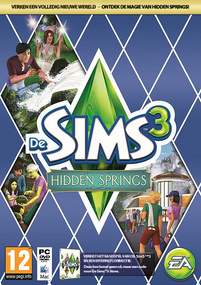 De Sims 3: Hidden Springs box art packshot