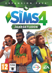 De Sims 4: Jaargetijden box art packshot cover