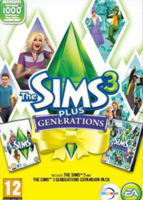 The Sims 3 Plus Generations packshot box art
