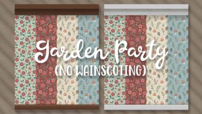 Garden Party (no wainscoting) walls