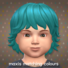 Maxis Matching Medium Wavy Hairdo for Toddlers