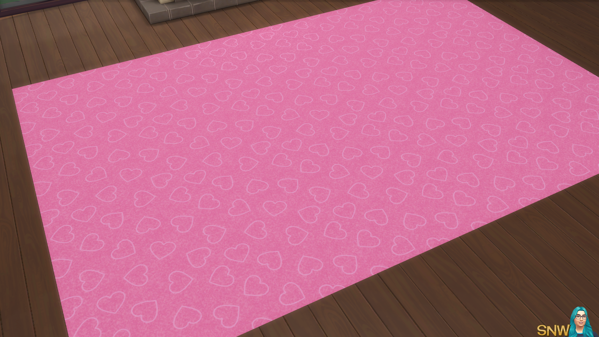 Valentine's Day 2018 / Love Carpets #7 (Hearts - Outline - Small - Light)