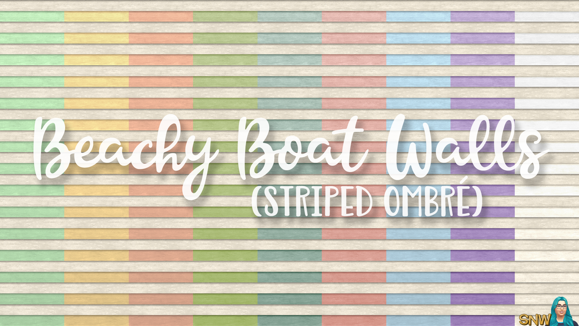 SNW Beachy Boat Striped Ombré Siding Walls