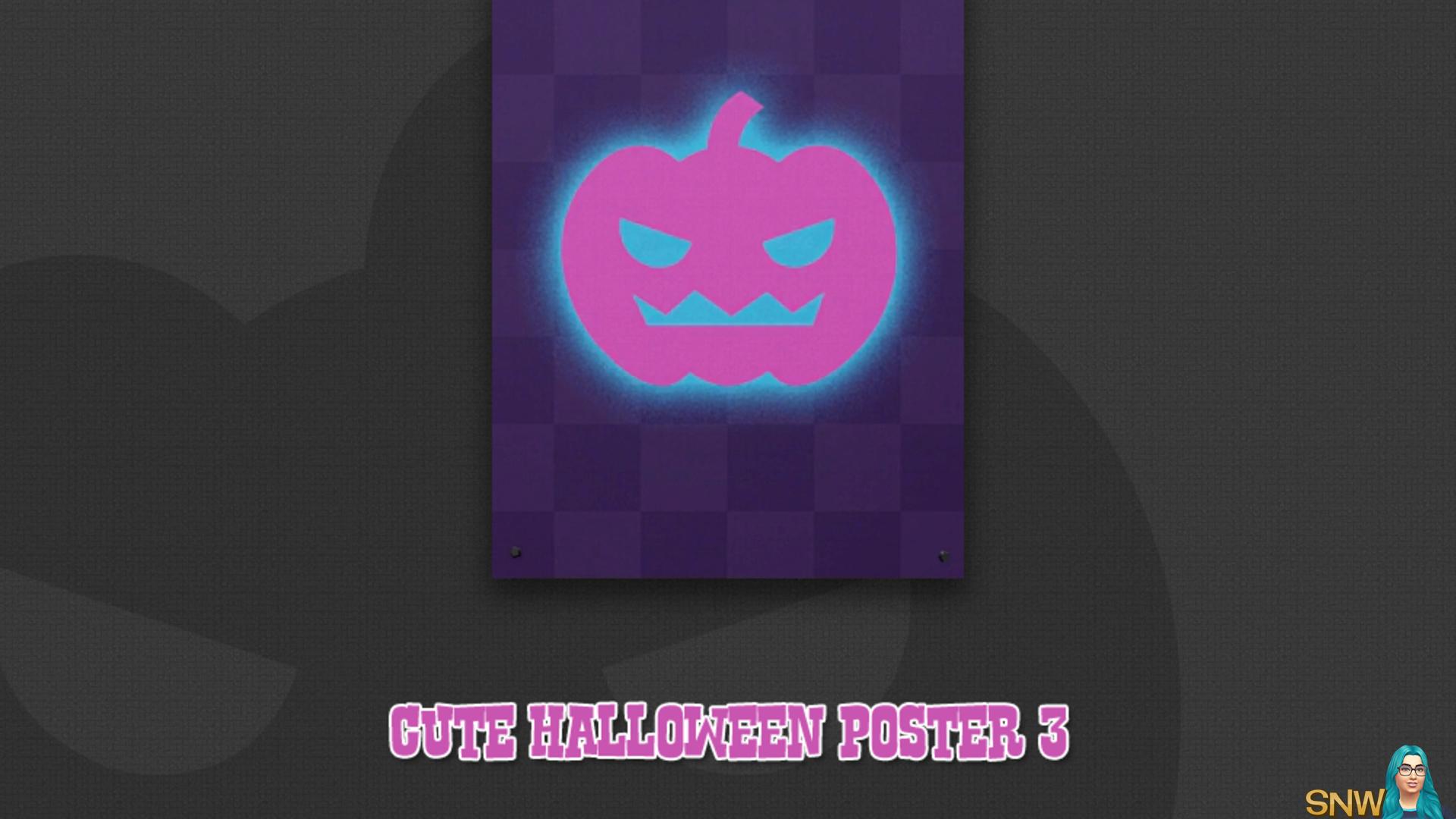 Cute Halloween poster #3 (Pumpkin)