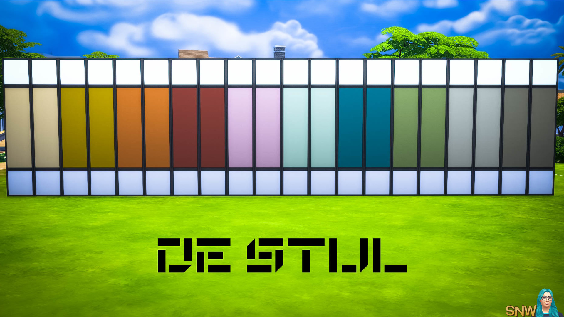 De Stijl MCM Wall Panels (Middle) #5