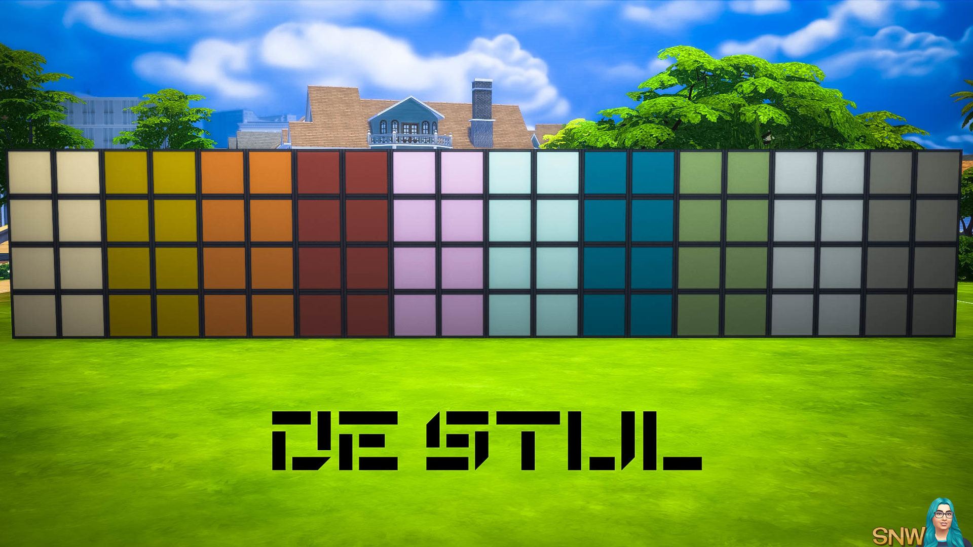 De Stijl MCM Wall Panels Blocks (Full) #7