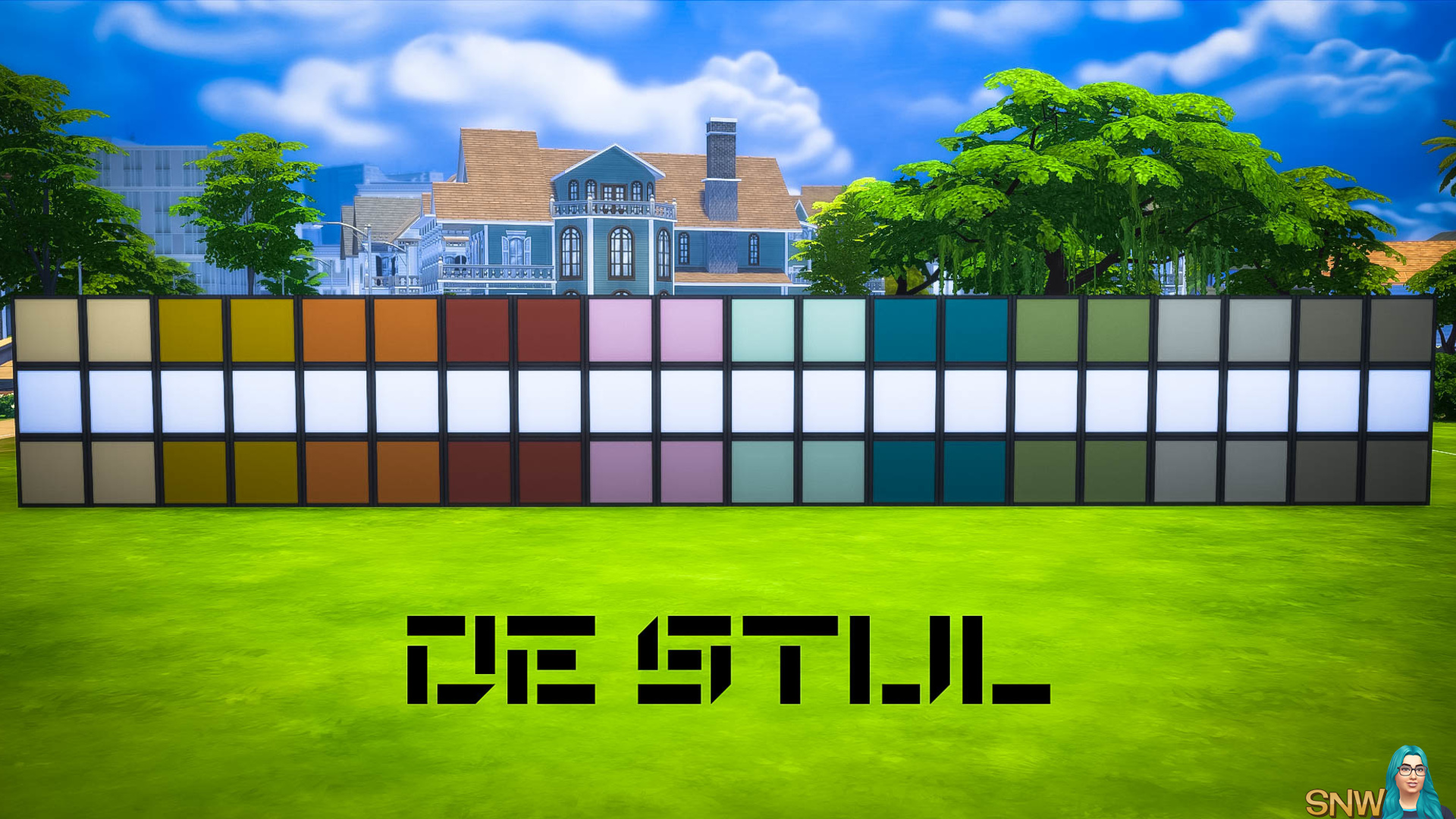 De Stijl MCM Wall Panels Blocks (Top and Bottom) #10