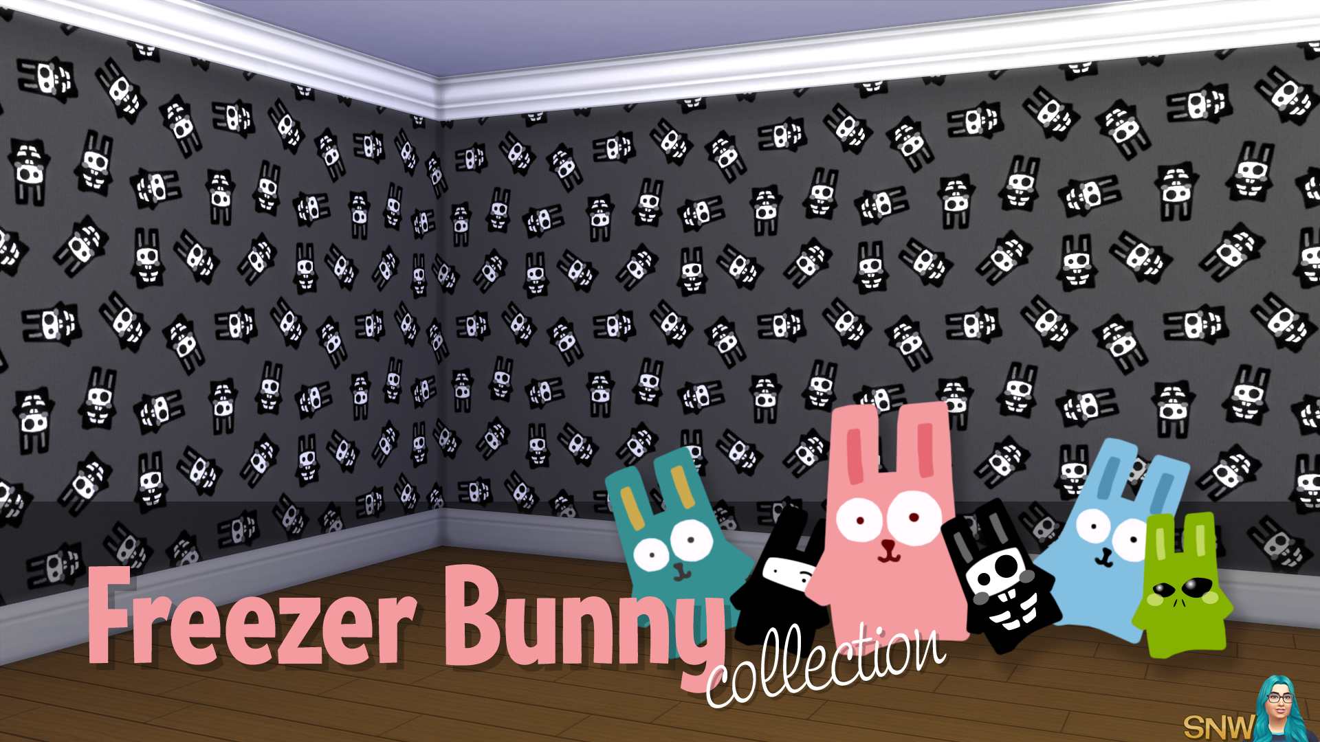 Freezer Bunny Collectie: Grote Bunnies Behang