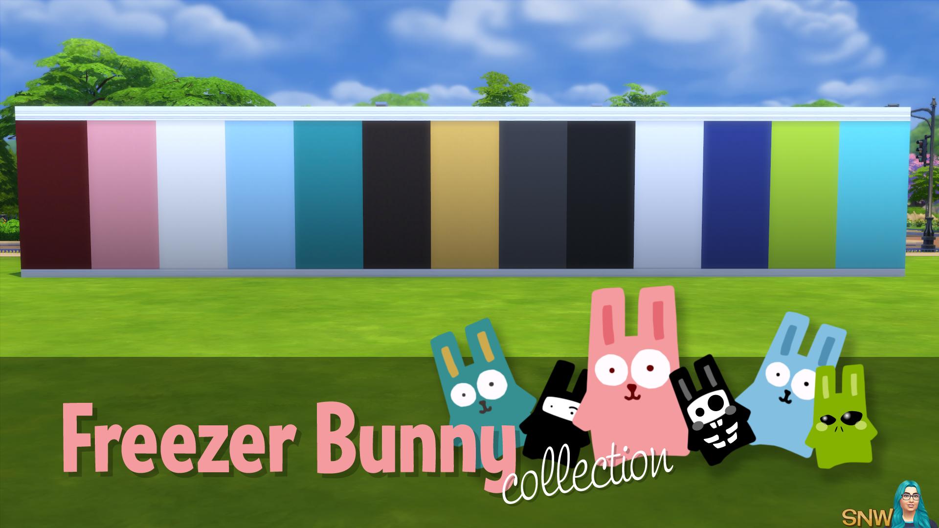 Freezer Bunny Collectie: Effen Behang