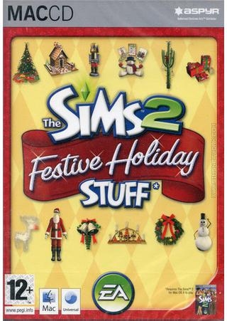 The Sims 2: Festive Holiday Stuff for Mac box art packshot