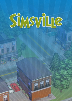 SimsVille custom box art packshot made by Rosana