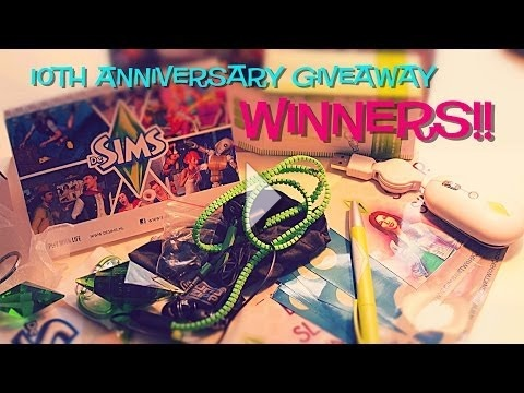 10th Anniversary Giveaway Winners!